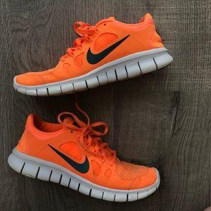 Nike Free 5.0's. Orange and Blue. 5.5Y